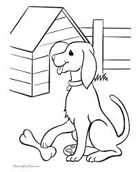 Free Printable Animals Coloring Page Of Dog