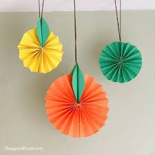Hanging Citrus Fruit Paper Craft For Kids BuggyandBuddy