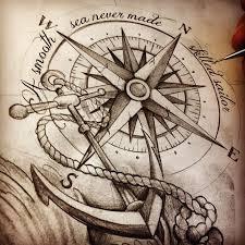 Best 25 Anchor Compass Tattoo Ideas On Pinterest
