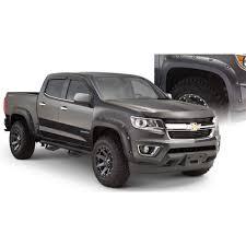 100 2015 Colorado Truck Bushwacker 4097002 Fender Flare Matte Black PocketStyle