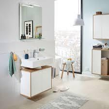 fackelmann unterschrank finn spanplatte weiß asteiche dekor 60x75x30 cm bxhxt 2 türig