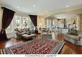 wohnzimmer mit zwei säulen wohnzimmer im luxushaus mit zwei