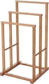 mendler handtuchhalter hwc b18 badezimmer handtuchständer freistehend bambus 82x42x42cm