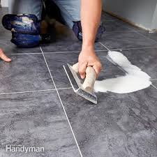 groutable vinyl tile uk how to lay a vinyl tile floor family handyman