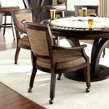Gorgeous Dining Room Chairs On Casters Rooms Sets Chair Seat ...