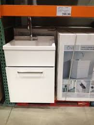 utility sink and cabinet in one with faucet and sprayer home