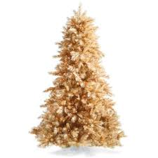 Champagne Gold Artificial Christmas Tree With Traditional Stand