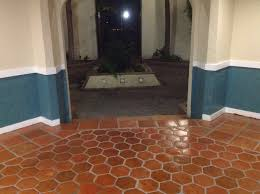 superior saltillo tile floor refinishing restoration without