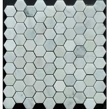 Home Depot Canada Marble Tile by Novecento 1 1 4x1 1 4 Novecento White Hexagon Mosaic