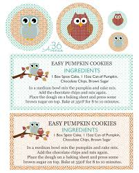 Cake Mix Pumpkin Cookies by Pumpkin Cookie Recipe Free Printable The 36th Avenue