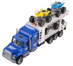 100 Semi Truck Toy No Batteries Required Transporter Trailer