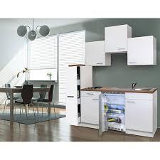 respekta küchenzeile kb180ww 180 cm weiß