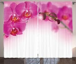 gardine schlafzimmer kräuselband vorhang mit schlaufen und haken abakuhaus orchidee exotische orchid feng shui kaufen otto