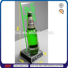 TSD A068 Custom Floor Acrylic Beer Promotion Display Stand Rack Shelf