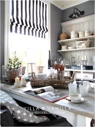 Nice Black And White Striped Roman Shades Decor With Area Rugs