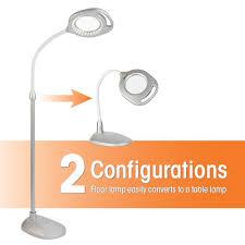 Ott Light Floor Lamp Uk by Amazon Com Ottlite 43828c 2 In 1 Led Mag Floor And Table Lamps