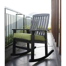 Better Homes And Gardens Delahey Wood Porch Rocking Chair, Black