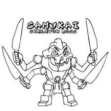 Ninjago Samukai Skeleton Boss Princess Nya Coloring Pages