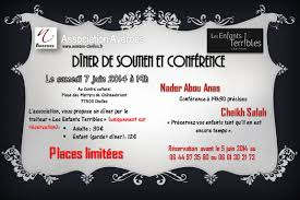 conférence et dîner de soutien au profit de l association avéroès