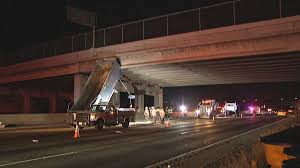 100 Truck Hits Overpass Dump In Palo Alto NBC Bay Area