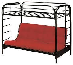 twin over full tubular blue futon bunkbed contemporary bunk