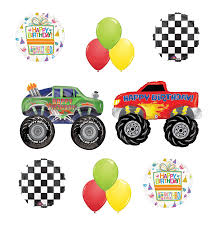 99 Truck Birthday Party Monster Supplies And Balloon Bouquet