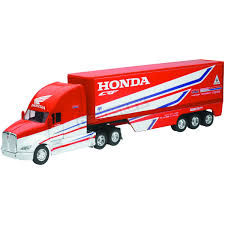 New Ray Toys Team Honda HRC Transporter Truck 1:32 Scale Die-Cast ... Long Haul Trucker Newray Toys Ca Inc Truck New Ray 132 Peterbilt 389 Cab Toy For Kids Youtube Company Limited Newray 25 Diecast Mini Novelty Model Collection Kevin Windham Ultimate Set 10 700 Off Revzilla Blue Plastic Transporter Towing Buy Intertional Lonestar Dump Diecast Scale Man Tga Artic Fridge Trailer A Mans World 143 Cattle Ranch With Barn Big R Stores 1923 Chevrolet Series D 1ton By Tow Custom Strobe Lights