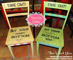 """Time Out! Sit Your Naughty Bottom Here"""" Chair :) 