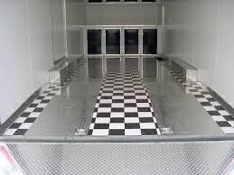 Checkerboard Vinyl Flooring For Trailers by Diamond Plate Flooring Flooring Designs