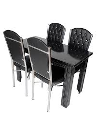 UV TABLE SET With 4 Chairs BLACK STANDARD