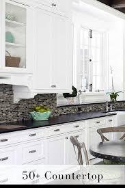 Kitchen Backsplash Ideas With Granite Countertops 50 Black Countertop Backsplash Ideas Tile Designs Tips