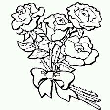 Valentines Day Roses ColoringPages 1 New Hd Template Images