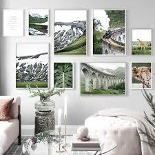giraffe leopard zitieren tier pflanzen alps wand kunst leinwand malerei nordic poster und drucke wand bilder für wohnzimmer deco
