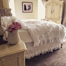 Fantastic Little Farmstead Rustic Linen Ruffled Bedding Free Home Designs Photos Fiambrelomitocom