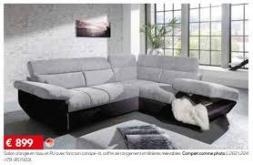canape toff meubles toff promotion salon d angle en tissu et pu avec fonction