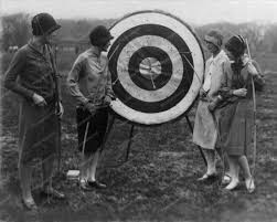 Wonderful!! 1920s Archery! | Sports: Archery Attire | Pinterest ... Archery Bow Set With Target And Stand Amazoncom Franklin Sports Haing Outdoors Arrow Precision Buck 20pounds Compound Urban Hunting Bagging Backyard Backstraps Build Your Own Shooting Range Guns Realtree High Country Snyper Compound Bow Shooting In The Backyard Youtube Building A Walt In Pa Campbells 3d Archery North Plains Family Owned Operated The Black Series Inoutdoor Seven Suburban Outdoor Surving Prepper Up A Simple Range Your