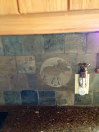 Rustic Log Cabin Kitchen Ideas by The Tile Backsplash In The Kitchen At Our Cabin It U0027s Got Dear