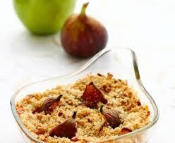 cuisiner figues fraiches crumble aux pommes et aux figues fraîches recette de crumble aux