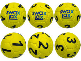 Yellow Swax Lax Lacrosse Goalie Training Balls Numbers 1 3