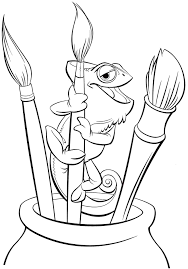 Rapunzel And Pascal Tangled Coloring Pages Disney