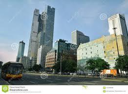 100 Poland Glass Urban Landscape In Warsaw Editorial Stock Photo