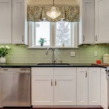 Curtains Up Tailored Valance In A Remodeled 1920s Kitchen Houzz