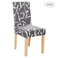GoodGreat Modern Stretch Dining Chair Covers Removable Washable Spandex  Slipcovers For High Chairs 4Pcs Chair Protective Covers