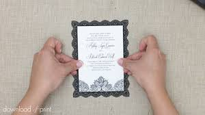 Attach Wedding Invitation To DIY Lace Doily Backing Card