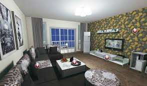 Elegant Creative Living Room Wall Decor Ideas Wallpaper For Tv With