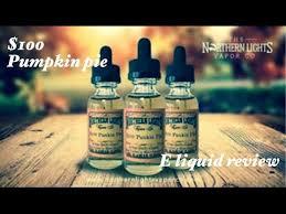 Northern lights $100 pumpkin pie e juice review
