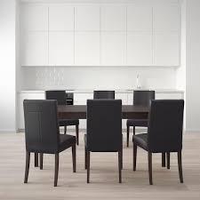 ekedalen henriksdal tisch und 6 stühle dunkelbraun glose