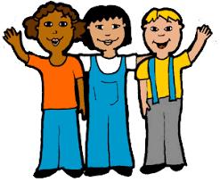 Clipart kids waving