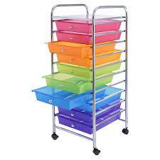 Desk Drawer Organizer Amazon by Amazon Com Giantex 10 Drawer Rolling Storage Cart Scrapbook
