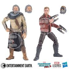 2 Marvel Legends Star Lord And Ego Action Figures